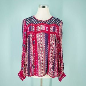 Anthropologie Maeve 4 Gretchen Paisley Top